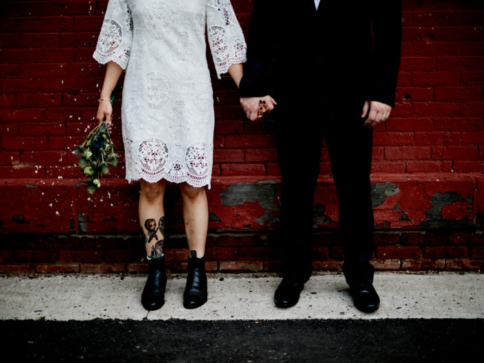 Beautiful and colorful Brooklyn Elopement