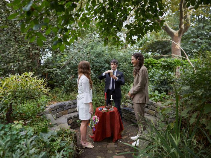 Green Dome Intimate Garden Wedding Brooklyn NY